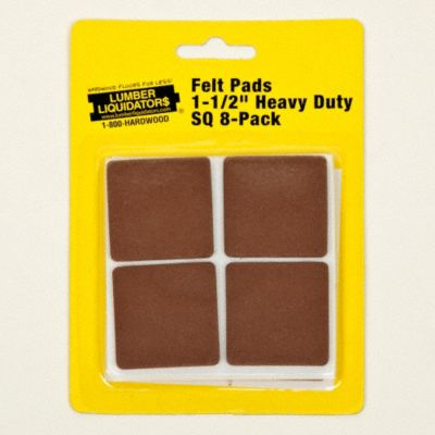 1-1/2&#034; Heavy Duty Felt Pads 8-Pack